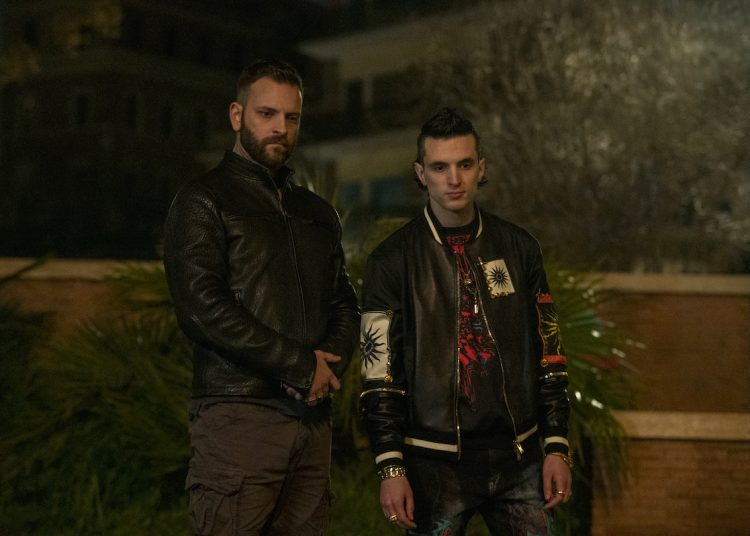SUBURRA (L to R) ALESSANDRO BORGHI as AURELIANO, GIACOMO FERRARA as SPADINO in episode 301 of SUBURRA Cr. EMANUELA SCARPA/NETFLIX © 2020